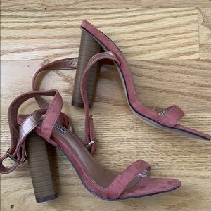 NWT CAPE ROBBI CONNIE PINK SUEDE SANDALS S…